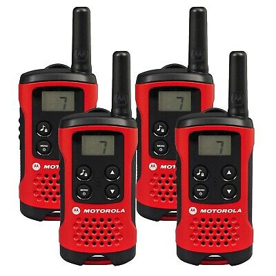 R Motorola TLKR T40 Walkie Talkie 2 Way PMR 446 Compact Radio Quad Set