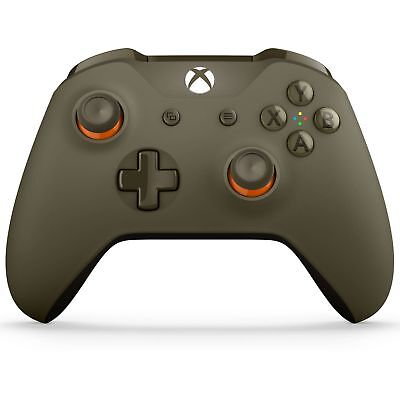 Genuine Military Green Limited Edition Microsoft Xbox One S Wireless Controller.