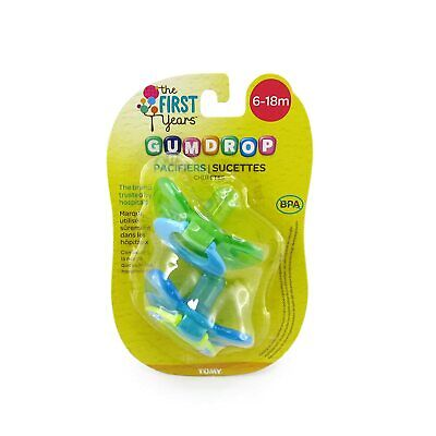 The First Years Gumdrop Pacifiers 6-18month - 2 CT - Color May Vary