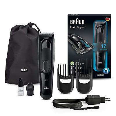 Braun HC 5050 Máquina de Cortar pelo Profesional Potente Tecnología DualBattery