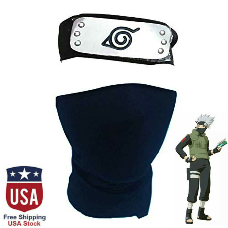 Headband Leaf Village Black Kakashi Mask Toy for Black Naruto Anime Cosplay