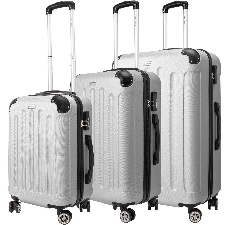 KESSER® 3tlg Reisekoffer Set Trolley Hartschale Hartschalenkoffer Koffer M -L-XL