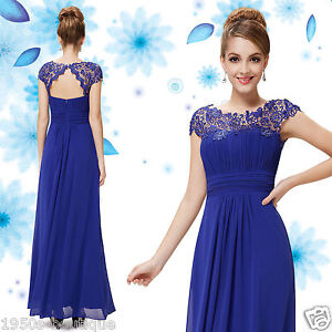 Long Maxi Evening Bridesmaid Formal Party Prom Dress Gown Size 8 -18 UK SELL N51