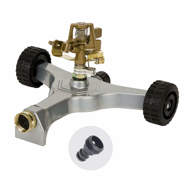 Melnor 9520 Metal Pulsating Sprinkler with Wheeled Base and