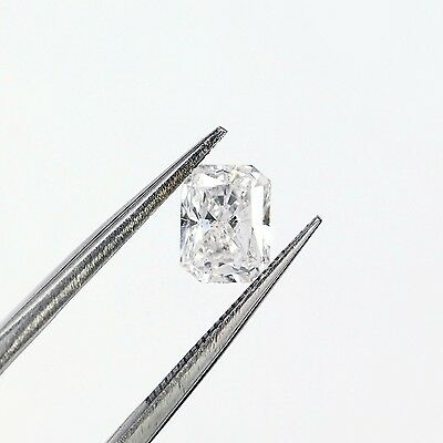 14K Gold 1.1 ct Radiant Cut Diamond Solitaire Engagement Ring D SI1 ()