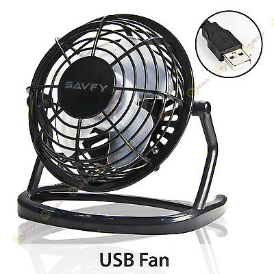 Mini Portable USB Fan Quiet Desktop Desk Silent Cooler Cooling For Laptop PC