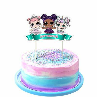 1st Bday Decorations (LOL Cake Topper 1St Birthday Toppers Cute Girls Dolls Bday Decorations Theme)