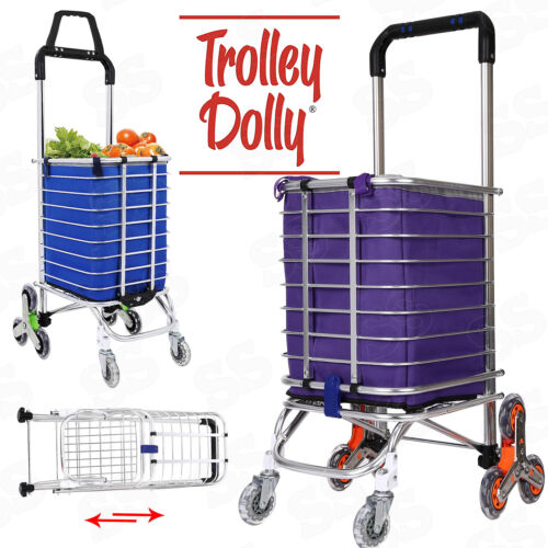Folding Shopping Cart Grocery Trolley Laundry Stair Climbing Handcart Hot