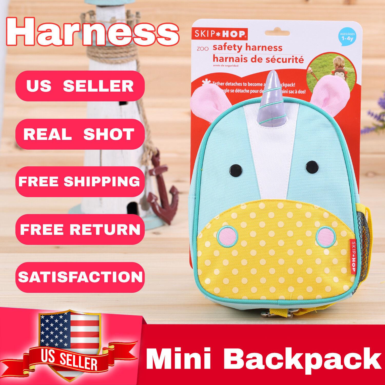Skip Hop Zoo Safety Harness Mini boy girl Kids Children Backpack  blue Unicorn Backpacks & Bags