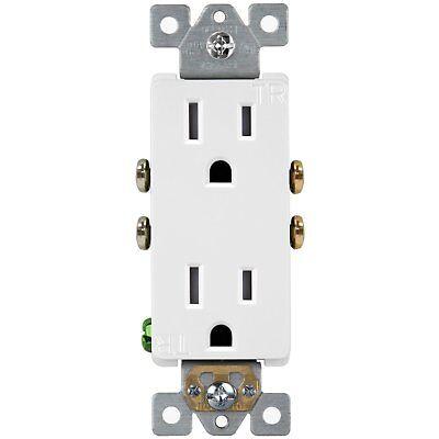 61501-TR Wall Outlet / Socket Tamper Resistant Receptacle 15A 125V (100 Pack)
