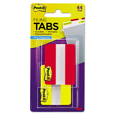 3m File Tabs 2 X 1 12 Solid Redyellow 44pack 6862ry