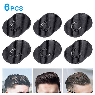 6Pcs Pocket Comb Brush Hair Men Beard Mustache Palm Travel Scalp Massager -