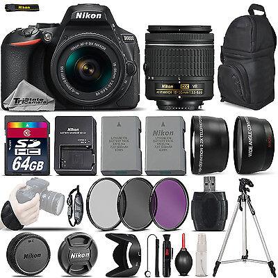 Nikon D5600 Digital SLR Camera +3 Lens 18-55mm VR + Extra Ba