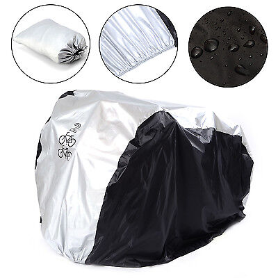 New Waterproof Bicycle Cover Outdoor Rain/Sun Protector for 2 Bikes Dustproof