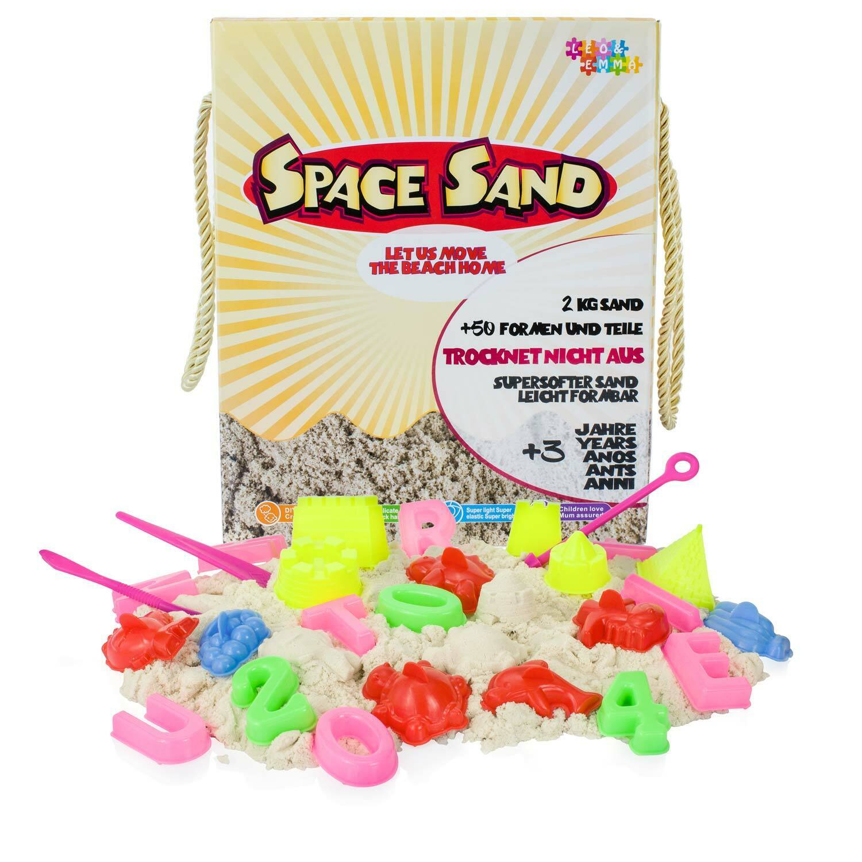 Magischer Sand 2 kg Set Kinetischer Formbarer Sand Spielsand Zubehör  Förmchen
