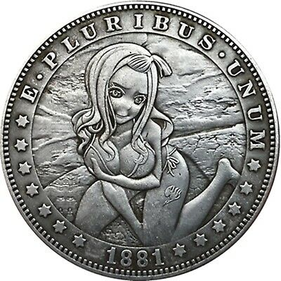 Hobo Nickel  1881-CC USA Morgan Dollar Innocent Face Girl COIN