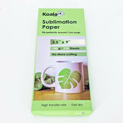 "Koala 110 Sheets 3.5""x9"" Dye Sublimation Heat Transfer Paper for Mugs Cups 11oz"