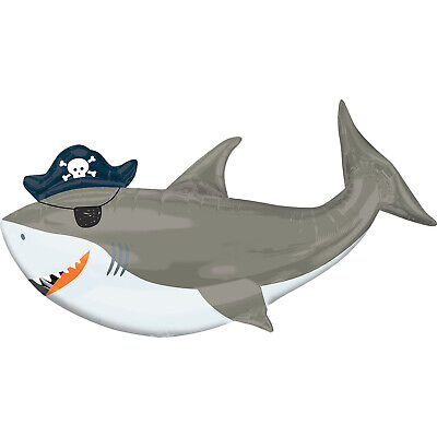 Ahoi Geburtstag Shark Super Form Luftballon Party Dekoration unter dem Meer