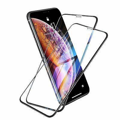 2x 6D Glas f. iPhone X / Xs  Panzerfolie Displayschutz Schutzfolie Hartglas 9H