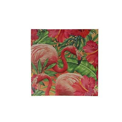 Pack of 16 3 Ply Tropical Flamingo Napkins Party Supplies Tableware Decoration