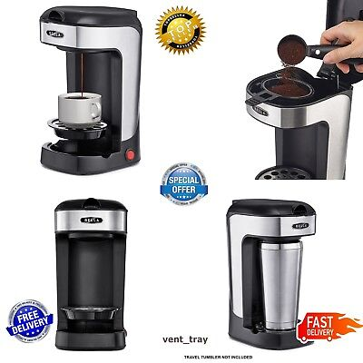 Fight for Coffee Maker Single Cup Alternative To K-Cup Plus One Scoop One Cup Black