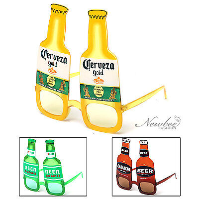 Beer Bottle Costume Party Glasses Sunglasses Corona Heineken Budweiser Inspired](Corona Beer Costume)