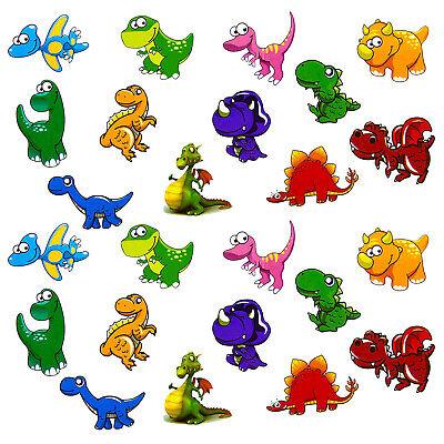 24 Dino Sticker Kinder Dinosaurier Aufkleber Spielen Basteln Kindergeburtstag