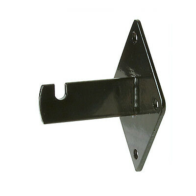 Gridwall Wall Mount Bracket - Grid Panel Mounting Brackets - Black - 8 Pieces