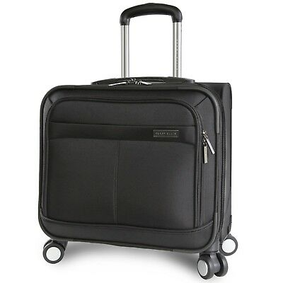 Perry Ellis Rolling Laptop Business Bag Black