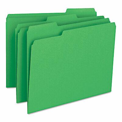 Smead File Folders 13 Cut Top Tab Letter Green 100box 12143