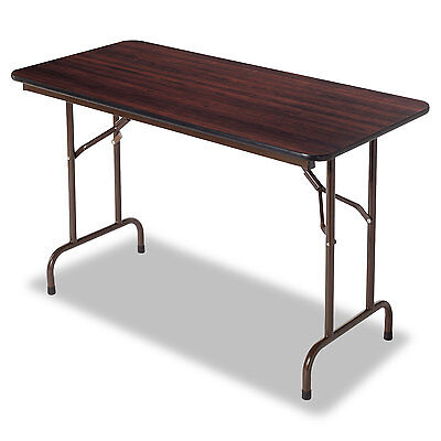 Alera® Melamine Folding Table TABLE,FLDG,MELMNE48X24WAL