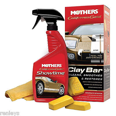 Mothers California Gold Clay Bar Kit 07240 Car Wax Polish Auto Wash Detailing