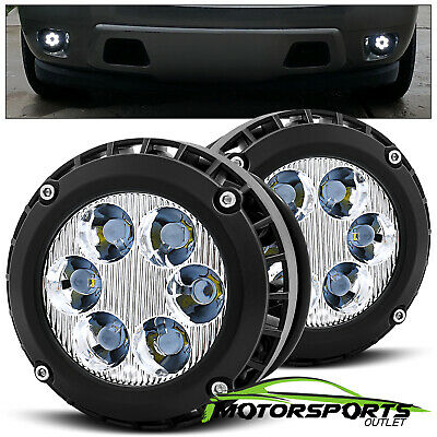 [LED] 2007-2016 Chevy Pontiac Ford GMC Pickup Truck SUV Driving Fog Lights Pair
