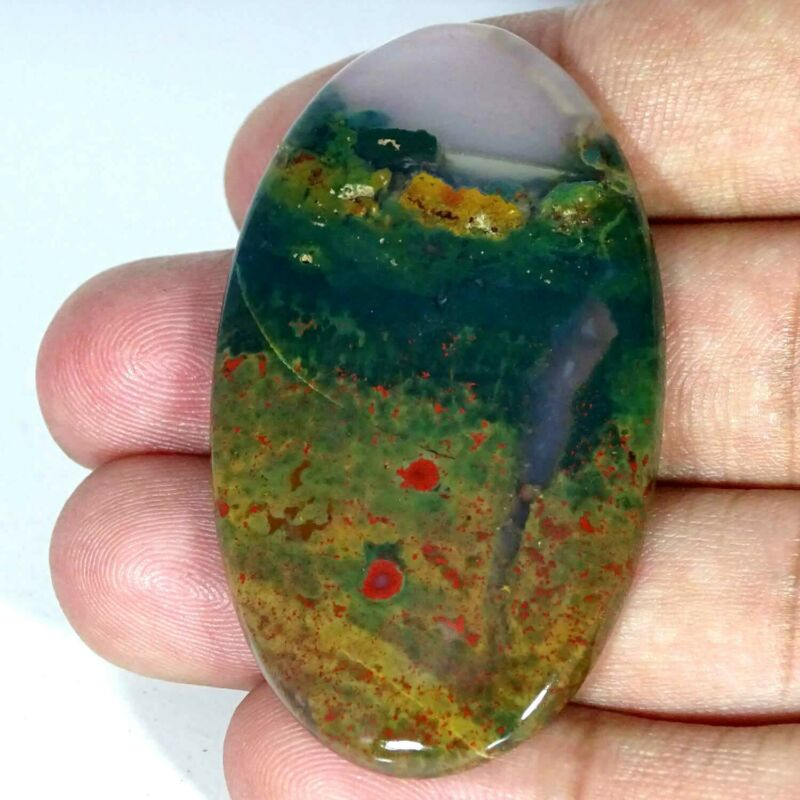 80.10Cts 100% Natural Blood Stone Oval Cabochon Loose Gemstone