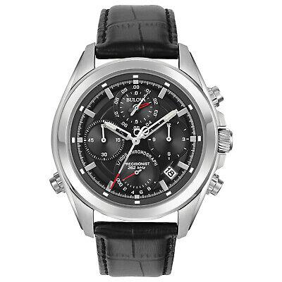 Bulova Men's Precisionist Quartz Chronograph Date-Calendar 44mm Watch 96B259
