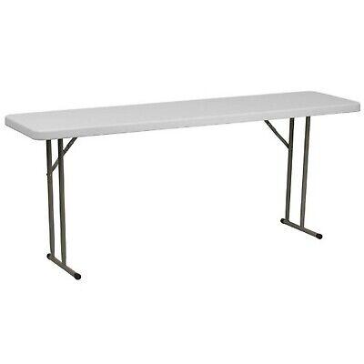 Flash Furniture 18''W x 72''L Granite White Plastic Folding