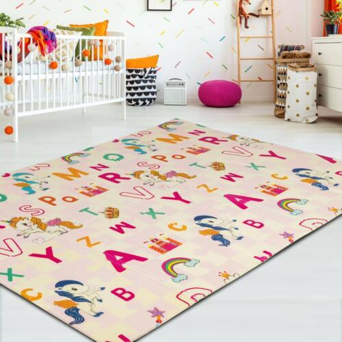 Foldable Baby Mat Kids Crawling Waterproof Play Soft Foam Baby Carpet 2 Side