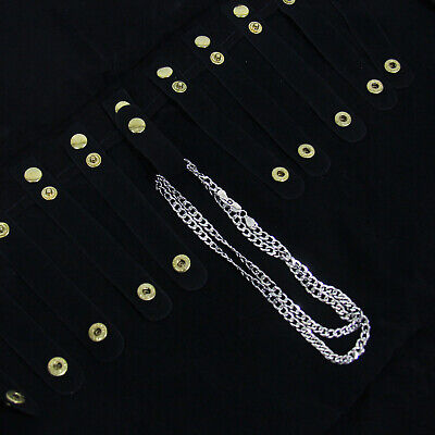 Black Velvet 16 Snap Chain Necklace Jewelry Display Roll Salesman Travel - Black Velvet Jewelry Travel Roll