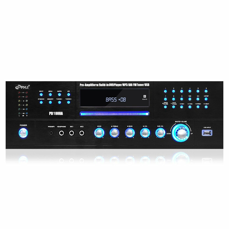 Pyle 4.1 Channel 1000 Watt AM/FM Receiver Amplifier DVD CD P