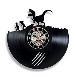 Jurassic Park Giant Animals Statue Gift Art Birthday Wall Vinyl Record Clock