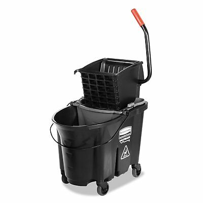 Wringer System - Rubbermaid Commercial Mop Bucket Side Press Wringer Wavebreak System 35qt Best