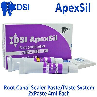 Dsi Dental Apexsil Root Canal Filling Sealant Sealer Radiopaque 2x4ml Paste
