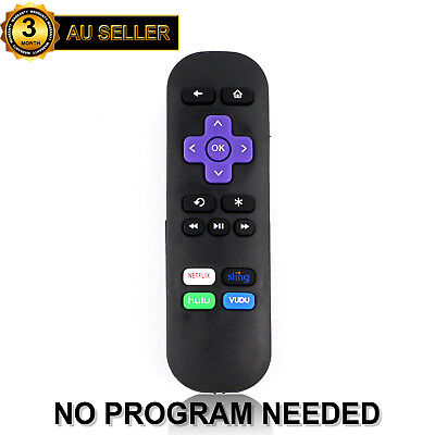 New Replaced Remote for Roku 1 2 3 4 HD LT XS XD Player, Roku Express + Hulu App