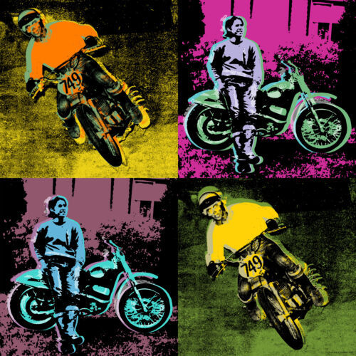 "Personalized  Pop Art  Warhol style print 36"" x 36"" rolled canvas by Popartworks"