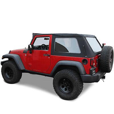 Jeep Wrangler JK 2007-18 2 Door Ridge Runner Frameless Style Soft Top