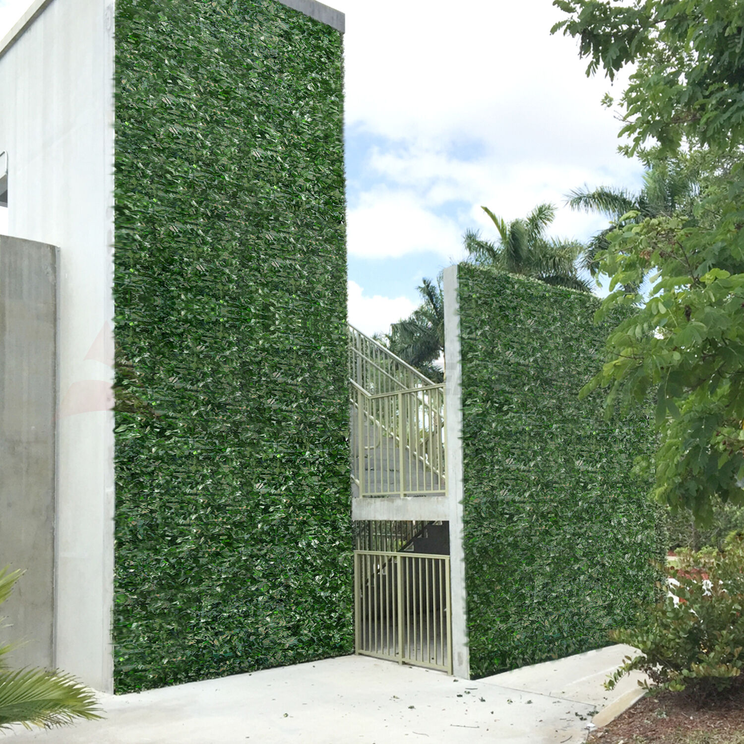 39 h faux ivy leaf privacy fence screen d cor panels for Decorative patio privacy screens