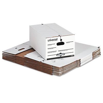 Universal Economy Storage Box Wtie Closure Legal Fiberboard White 12carton