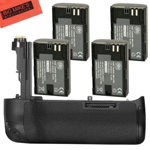 BG-E20 Replacement Grip for Canon EOS 5D MARK IV + 4 LP-E6N Batteries