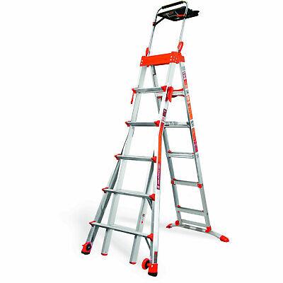 Little Giant 15125-001 5-feet8-feet 300lb Rating Adjustable Select Step Ladder