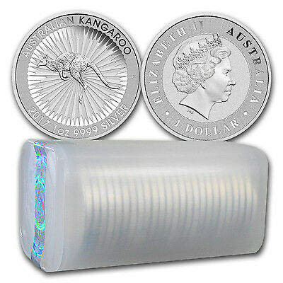 SPECIAL PRICE! 2017 Australia 1 oz Silver Kangaroo BU (Lot, Roll, Tube of 25)
